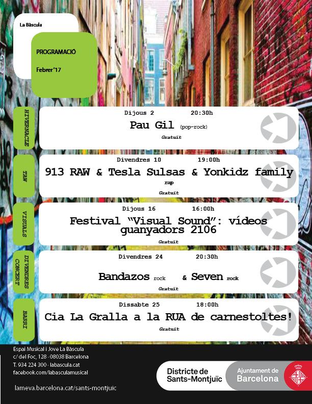 Projecció vídeos guanyadors BCN VisualSound 2016 @ Espai Musical i Jove La Bàscula