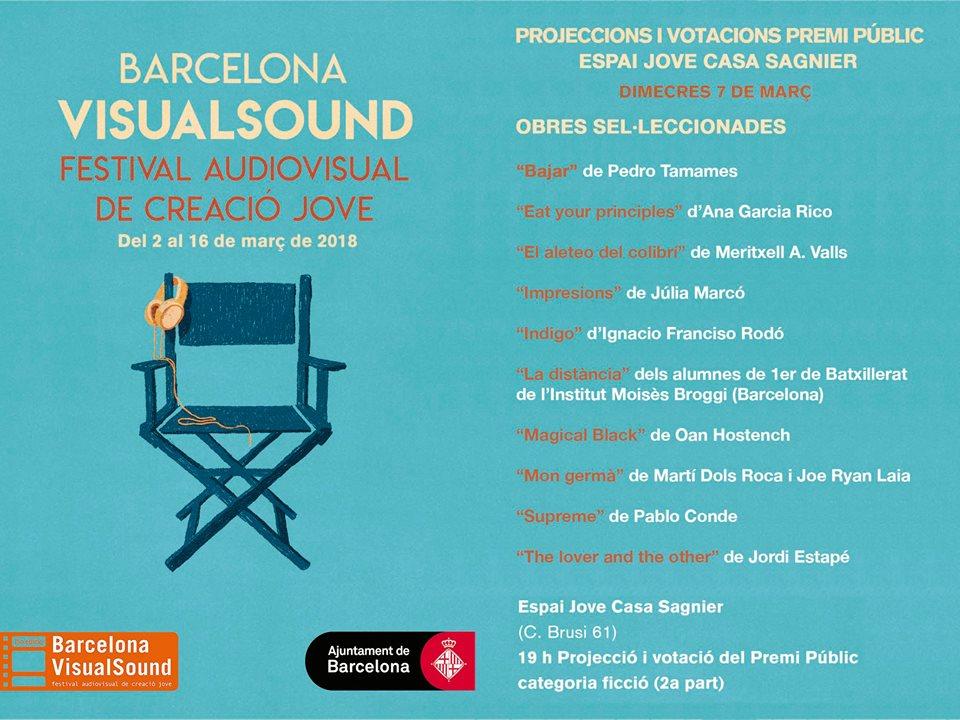 Projecció i votació del Premi Públic categoria ficció  (2a part) @ Casal de Joves Casa Sagnier