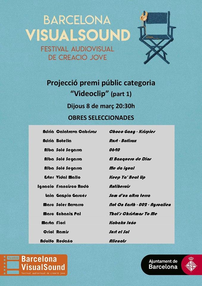 Projecció i votació del Premi Públic categoria videoclip @ Espai Musical i Jove La Bàscula