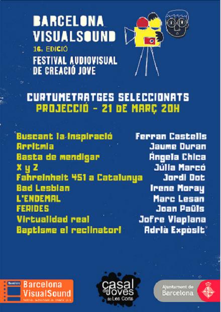 Projecció i votació del Premi Públic categoria ficció (2a part) @ Casal de Joves Les Corts-Centre Cívic Tomasa Cuevas