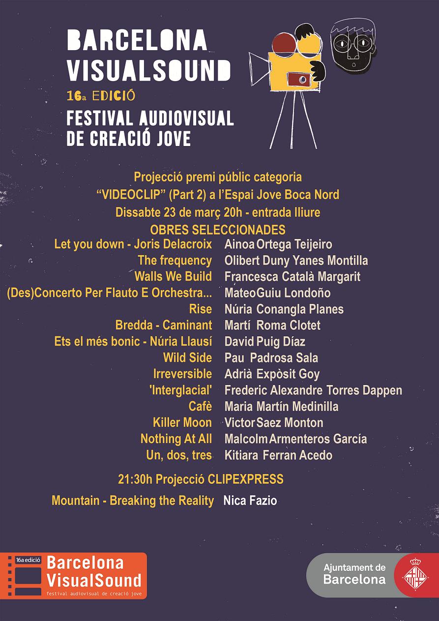 Projecció i votació del Premi Públic categoria videoclip (2a part) @ Espai Jove Boca Nord