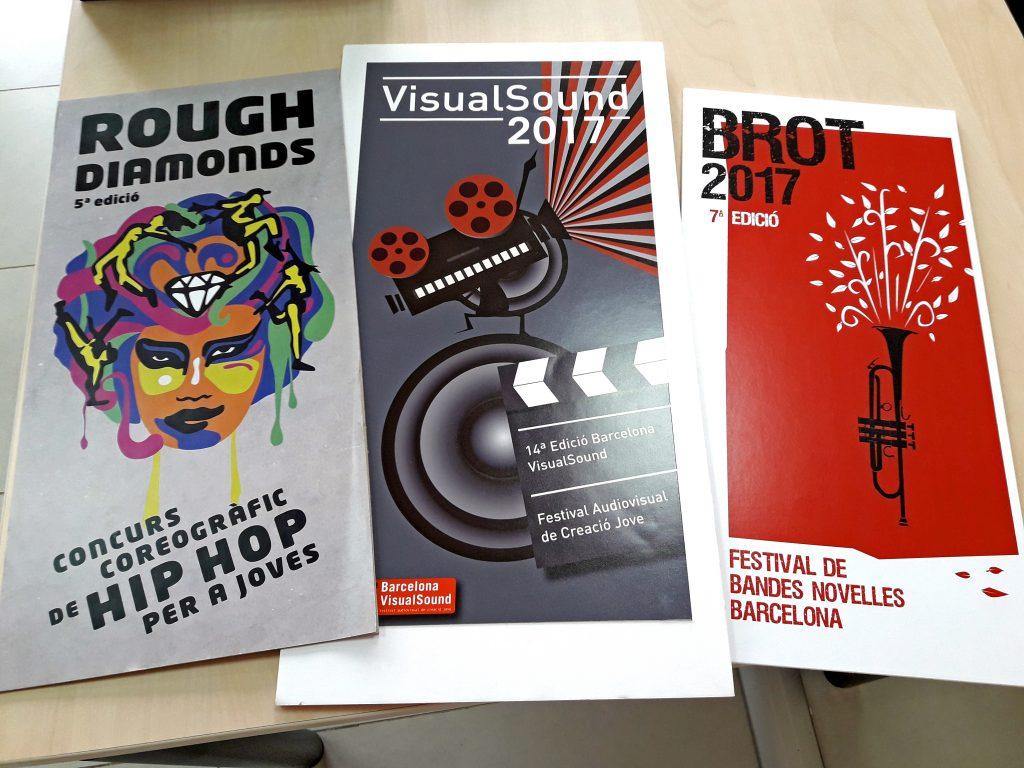 """Exposición a Espai Jove La Fontana:  """"¡Jóvenes diseñadores/ras, festivales y creación digital! """" @ Espai Jove La Fontana"""