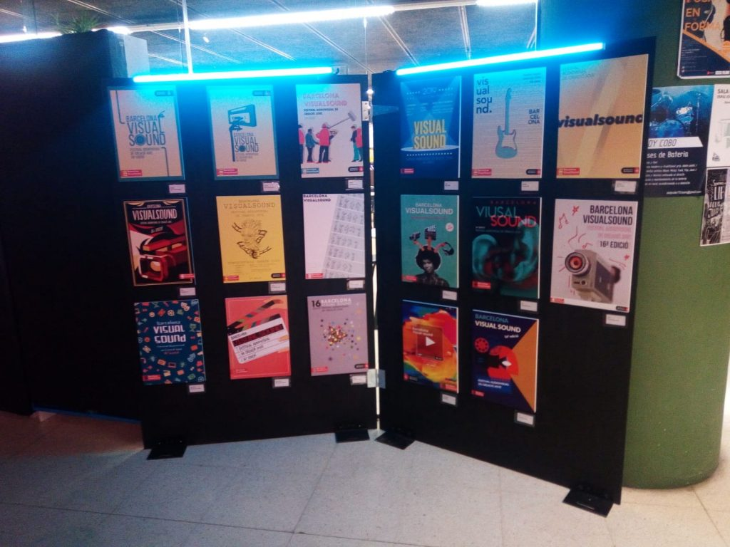 Exposición 3r Concurso de carteles de Festivales para jóvenes: Carteles Festival Barcelona VisualSound @ Espai Jove Boca Nord