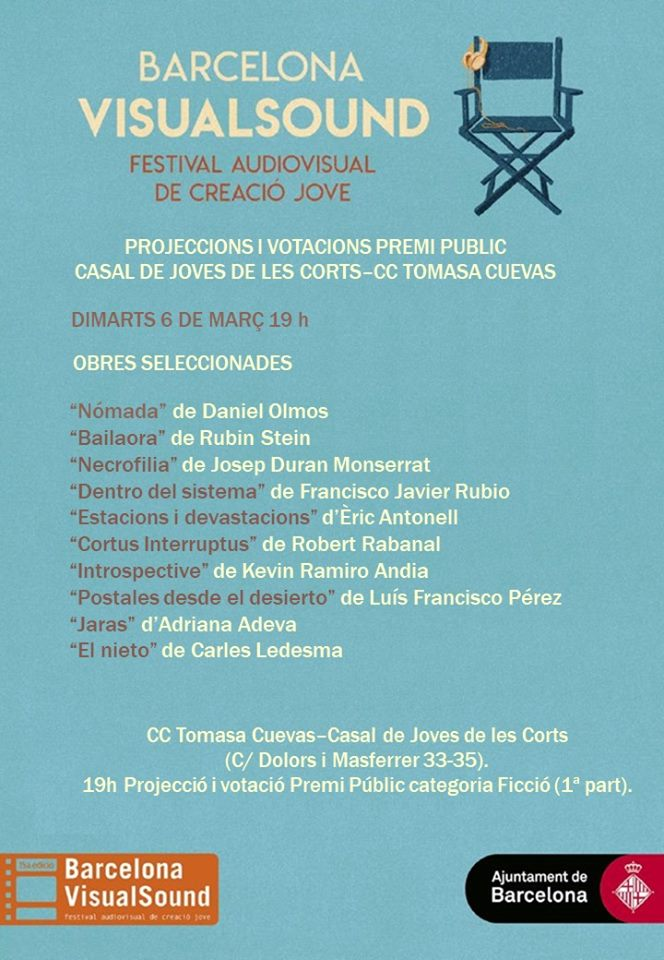 Projecció i votació del Premi Públic categoria ficció @ Centre Cívic Tomasa Cuevas-Casal de Joves Les Corts