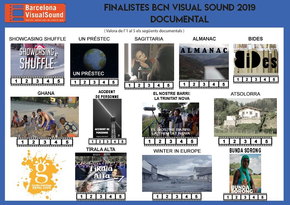 Projecció i votació del Premi Públic categoria Documental @ Espai Jove Garcilaso