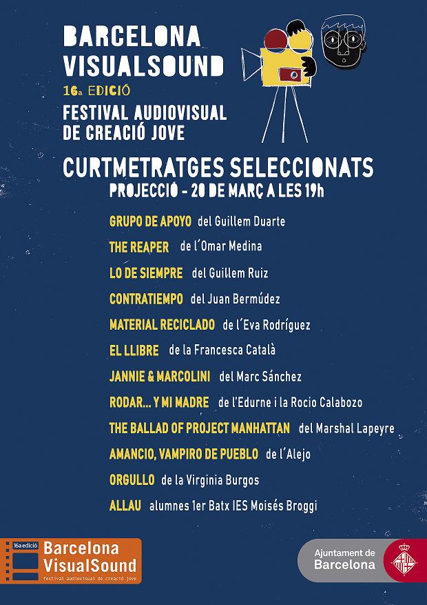 Projecció i votació del Premi Públic categoria ficció (1a part) @ Espai Jove Casa Sagnier